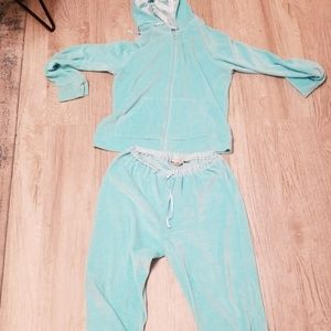 Ladies baby blue velour tracksuit